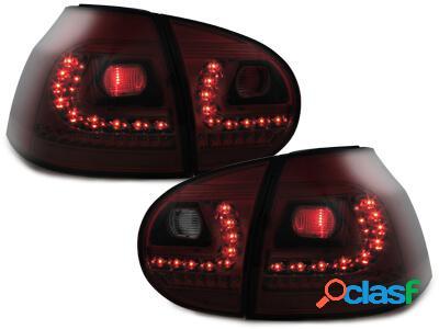 LITEC Focos Faros traseros LED VW Golf V 03-09 rojo/ahumado