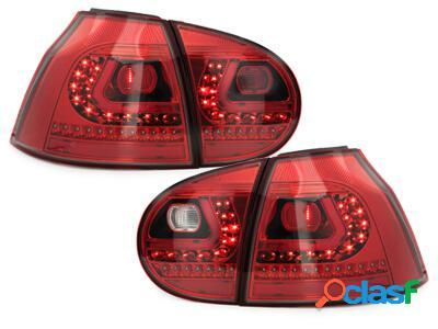 LITEC Focos Faros traseros LED VW Golf V 03-09 rojo/cristal