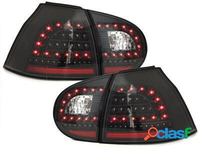 LITEC Focos Faros traseros LED VW Golf V 5 03-09 negro