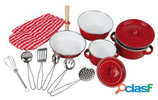 Legler Batería De Cocina, Roja