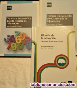 Libros grado de pedagogía uned segundo y tercer año