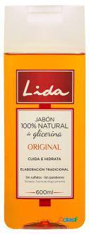 Lida Jabón 100% Natural Glicerina 600 ml 600 ml