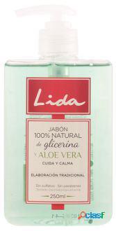Lida Jabón 100% Natural Manos Glicerina y Aloe Vera 250 ml