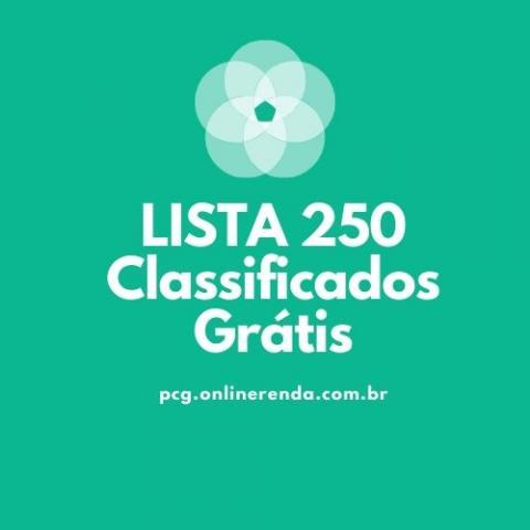 Lista com sites de classificados grátis mais de 250 sites