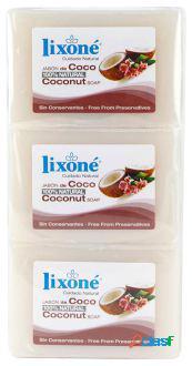Lixone Coco Jabón 100% Natural 3 x 125 gr