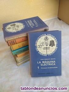 Lote de 9 libros de electricidad,mecánica y geometria