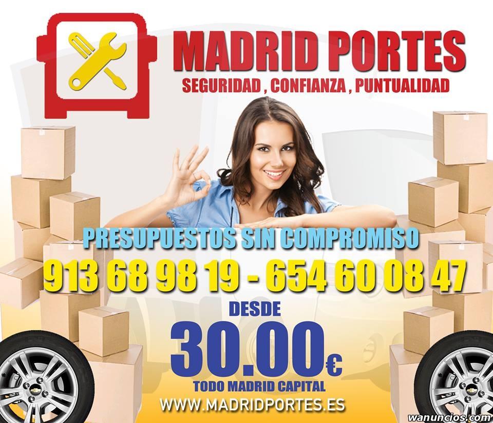 ((MUDANZAS Y PORTES EN PUENTE DE VALLECAS))DESDE.30€ -