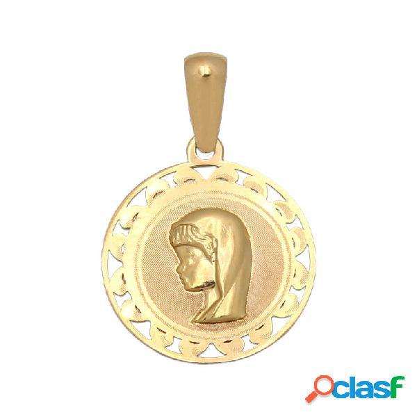 Medalla de oro calada virgen niña
