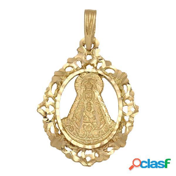 Medalla virgen del rocío calada de oro de 18 kl.