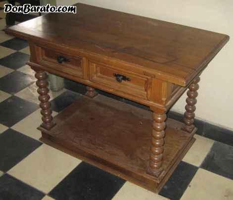 Mesa de television con cajones en madera