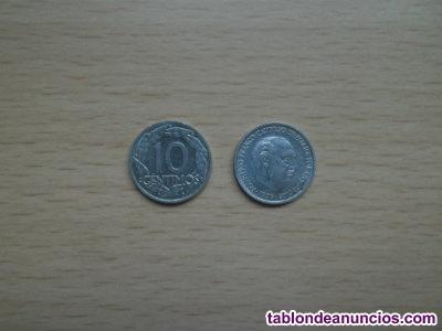Monedas antiguas 10 centimos