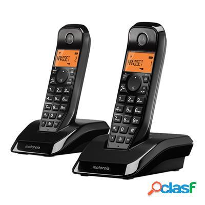 Motorola S1202 Telefono Dect Duo Negro, original de la marca