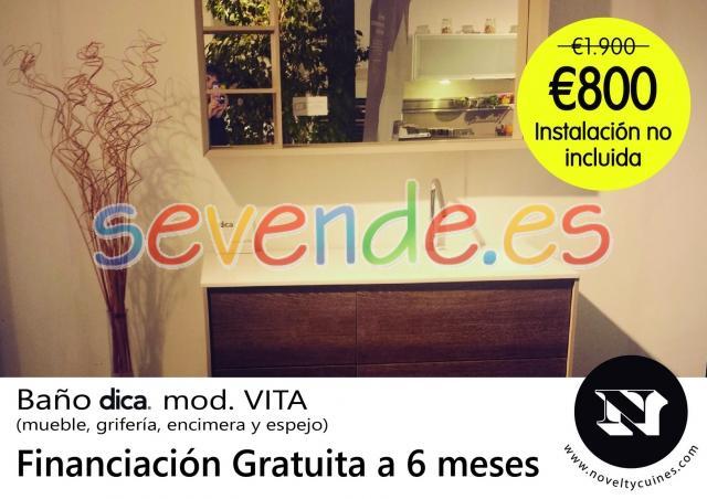 Mueble Baño Exposición de Dica mod Vita