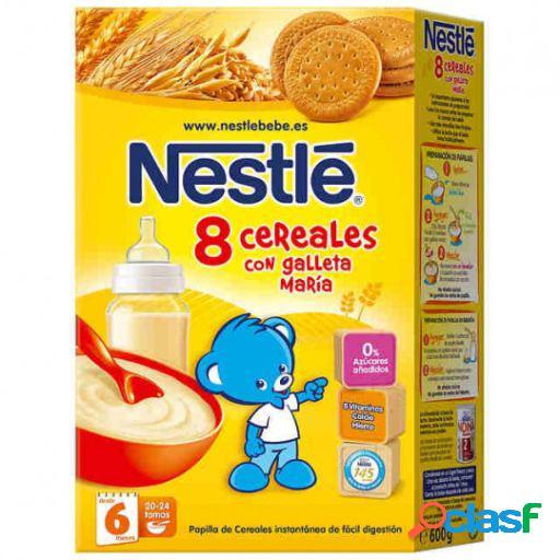 Nestlé Papilla de 8 Cereales Integrales con Galleta María
