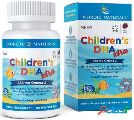 Nordic Naturals DHA Xtra para Niños 636 mg Omega-3 90 mini