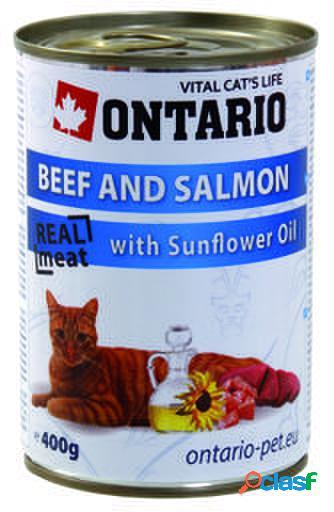 Ontario Cat Beef/Salmon/Sunflower Oil 400 gr 400 GR