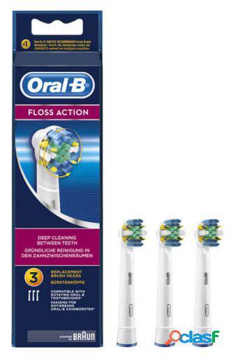 Oral B Cabezal de Recambio FlossAction 3 Uds