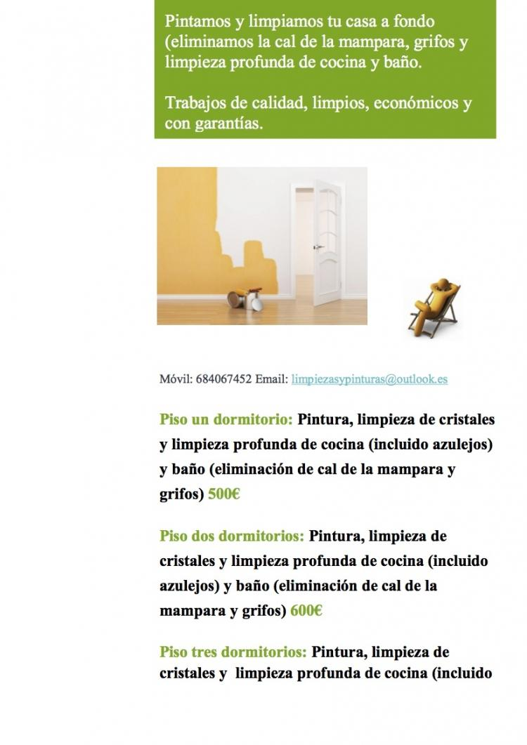 PINTURAS Y LIMPIEZAS - Pintamos tu piso completo