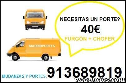 PORTES, MUDANZAS, OO8//47 PRECIO DESDE 45 EUROS -