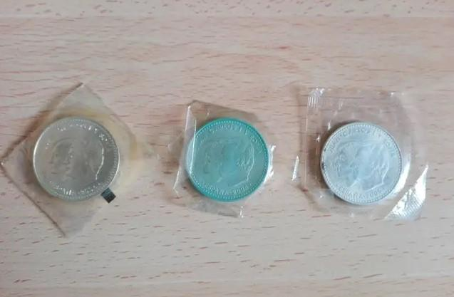 Pack 3 monedas conmemorativas de 12 euros.