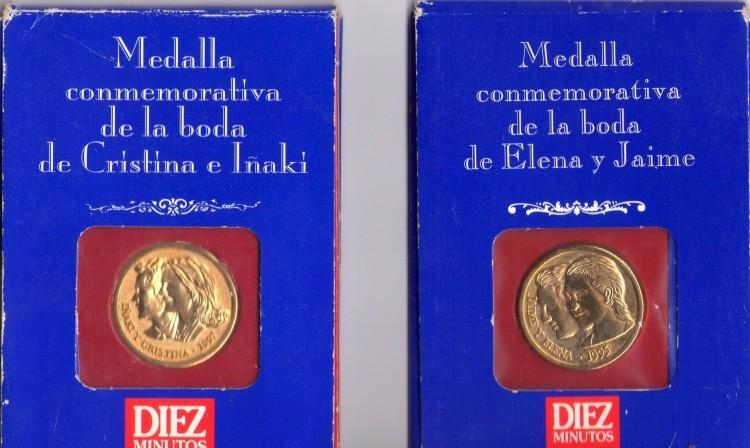 Pack Medallas conmemorativas Bodas reales.