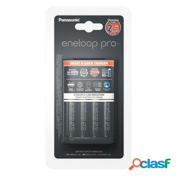 Panasonic cargador inteligente y rápido de bateria Bq-Cc55E