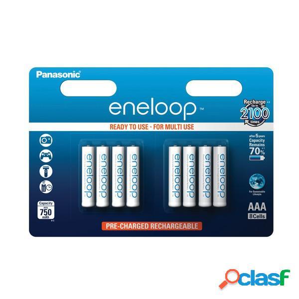 Panasonic eneloop bateria Aaa - blister 8 (Bk-4Mcce,8Be),