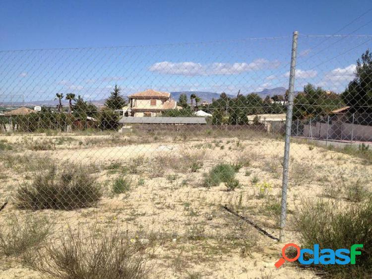 Parcela de 1.530 m2 en La Alcayna con fantásticas vistas