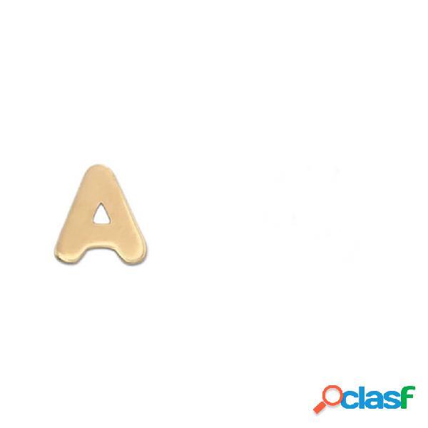 Pendiente letra de oro 18 kl (con cualquier letra)(medio