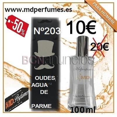 Perfume equivalente hombre n203 Oudes Agua de Parme 100ml