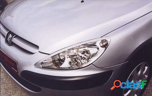 Pestañas faros delanteros para Peugeot 307 01