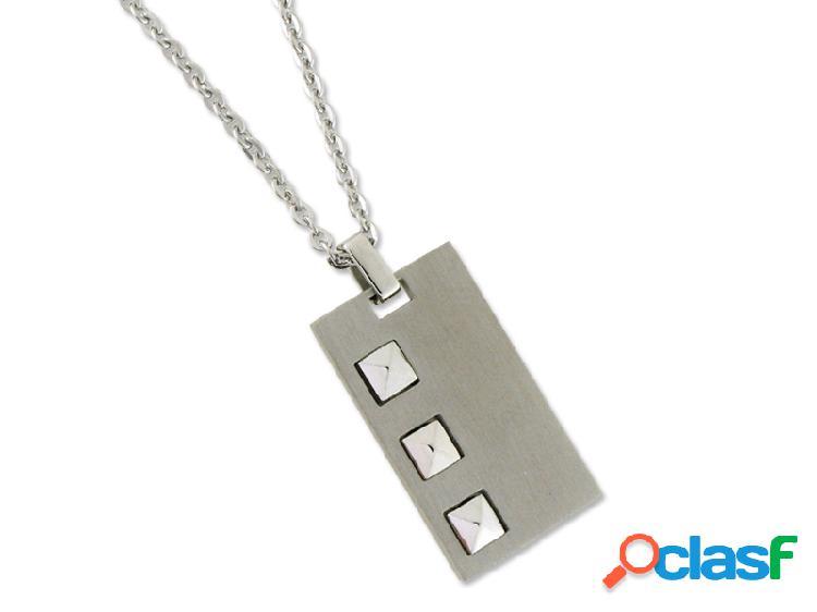 Placa de acero inox con cadena de acero