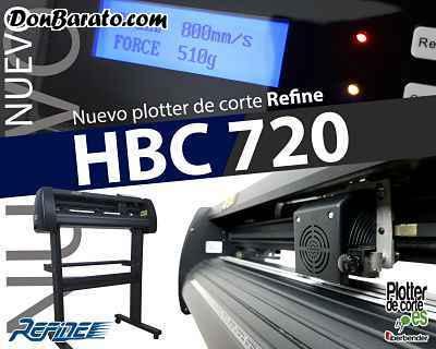 Plotter de corte refine hbc720 soporte en español