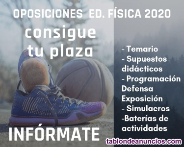 Preparador de oposiciones de educación física secundaria.