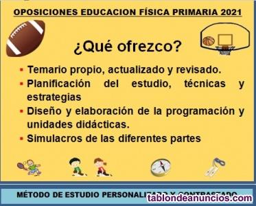 Preparador oposiciones educacion fisica primaria