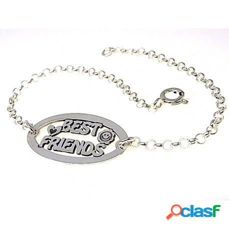 Pulsera de plata best friends ideal para regalo