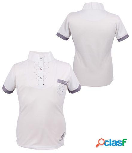 QHP Camiseta competicion junior pearl blanco 152 cm