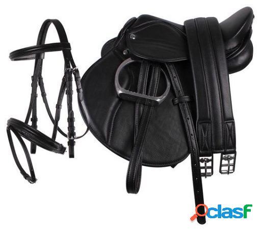 QHP Complete saddle set Negro