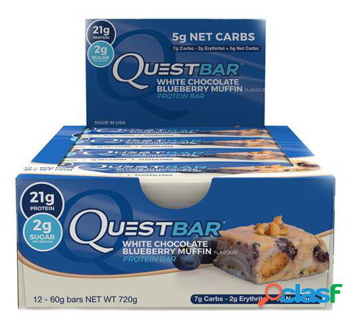 Quest Nutrition Quest Bar White Chocolate Blueberry muffin