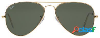 Ray Ban Lentes de Sol Aviator Gold Green