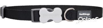 Red Dingo Collar Classic Perro Liso Negro 1.5x24-37 cm
