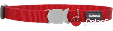 Red Dingo Collar Gato Liso Rojo Rosa