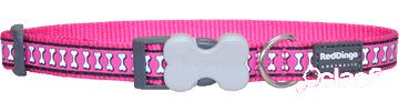 Red Dingo Collar Perro Reflectante Fuxia 2x30-47 cm