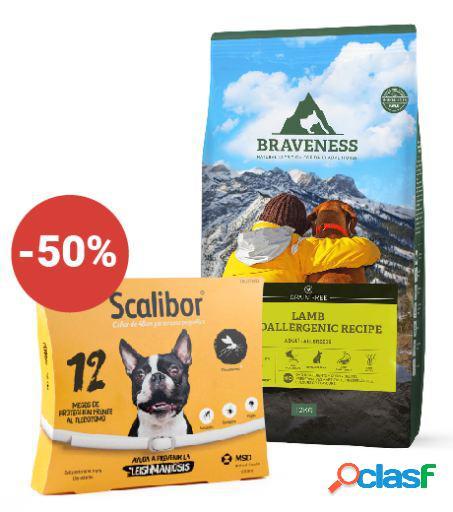 Scalibor + Braveness Grain Free Lamb Hypoallergenic Recipe