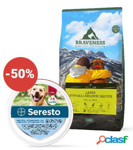 Seresto + Braveness Grain Free Lamb Hypoallergenic Recipe 12