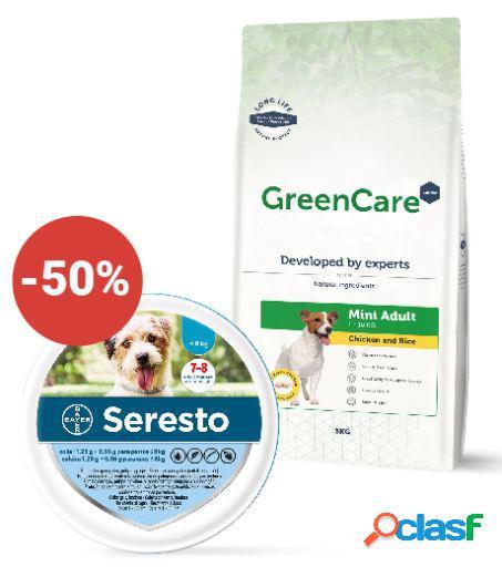 Seresto + Greencare Nutrition Adult Mini Chicken & Rice 6 Kg