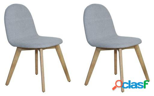 Set 2 sillas Liro madera tela