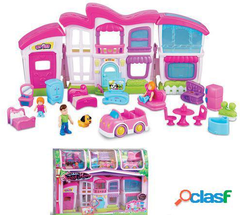 Small World Toys Mansion Con Figuras Y Coche