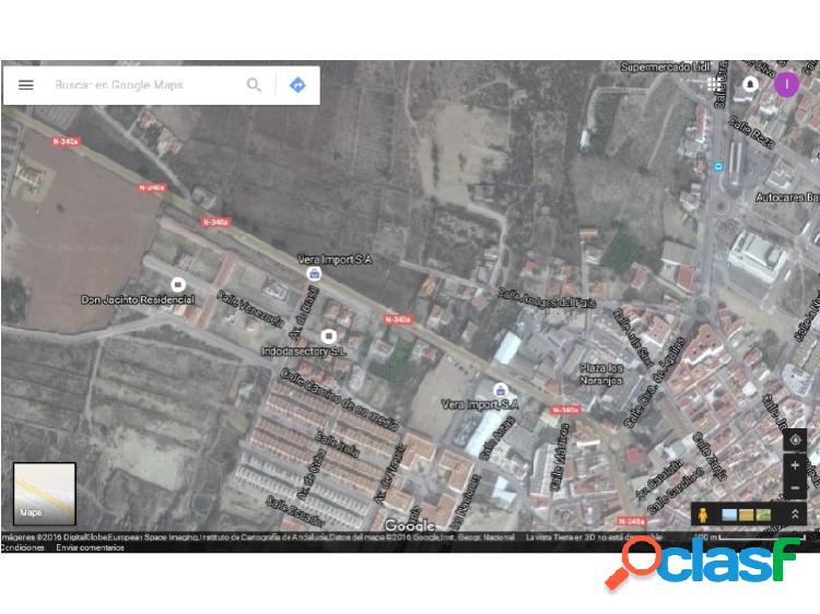 Solar urbano en Vera con 1.020 m2.
