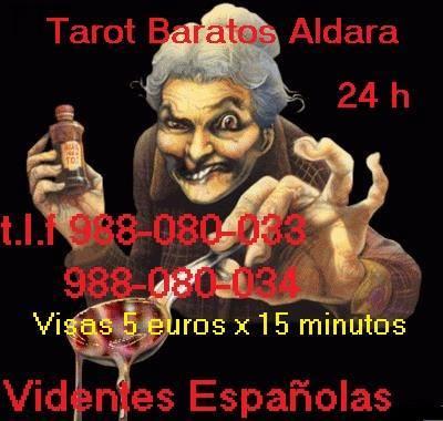 TAROT ALDARA VIDENTES ESPAÑOLAS 24 H VISA 5 EUROS X 15